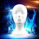 Weiße weibliche Styropor Mannequin Puppe Kopf Modell Schaum Schwamm Perücke Haar Brille Display Brille Cap Display Stand, weiß