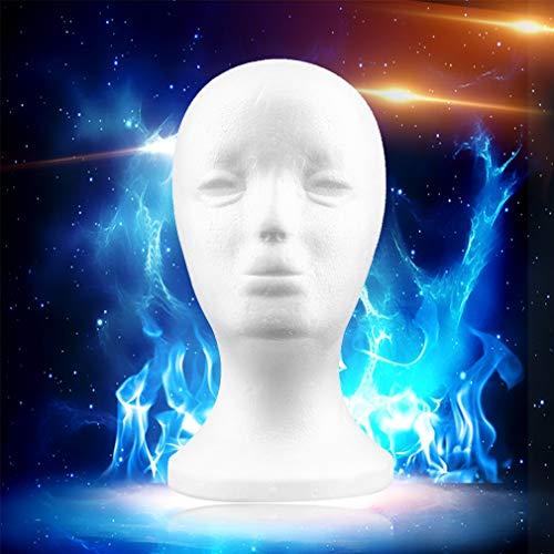 Weiße weibliche Styropor Mannequin Puppe Kopf Modell Schaum -
