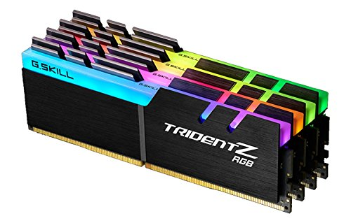 G.SKILL F4-3866C18D-16GTZR Trident Z RGB Series 16 GB (8 GB x 2) DDR4 3866 MHz PC4-30900 CL18 Dual Channel Memory Kit - Nero con barra luminosa LED RGB a lunghezza intera nero CL17 32GB (8GB x 4)