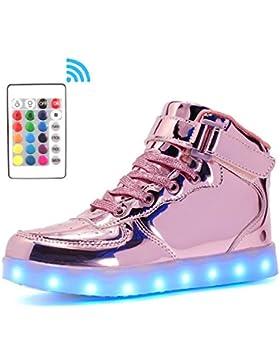 2c0d85f7ae58 Voovix Bambini LED Lampeggiante Scarpe con Telecomando per Ragazzi e Ragazze