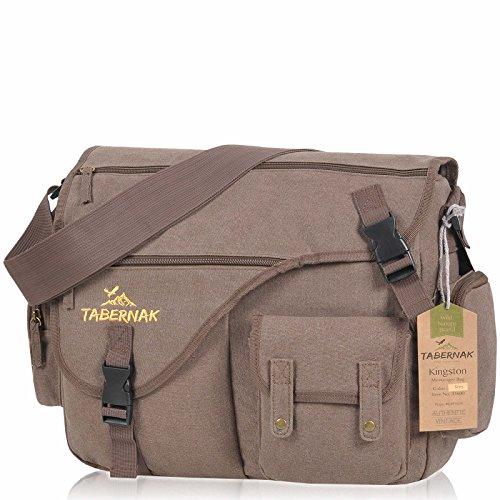 Womens-and-Mens-Canvas-Messenger-Canvas-Shoulder-Bag-Tabernak-Kingston-Laptop-Compartment-A4-Multi-Fit-Flight-Bag-Work-Bag-Outdoor-Cotton