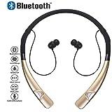 Écouteurs sans fil Bluetooth, Miya Élégant Sans Fil Bluetooth Neckband Casque Stéréo Sans Fil Sport Écouteurs Écouteurs antibruit avec micro pour iPhone, Samsung et autres périphériques Bluetooth - Or