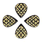Timber Tones Lot de 4 médiators avec motif celtique