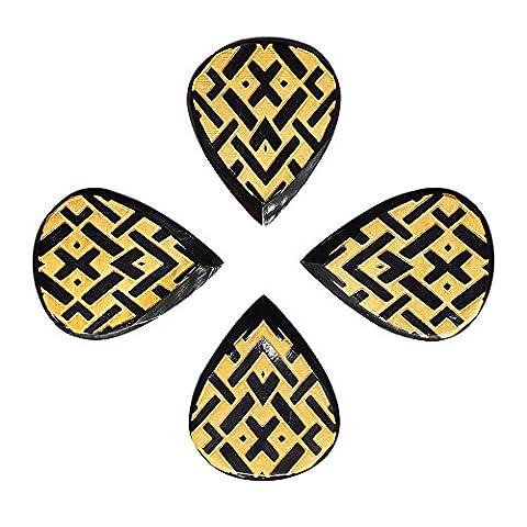 Timber Tones Tribal Tones Plektren, Celtic, 4 Stück (Celtic Horn)