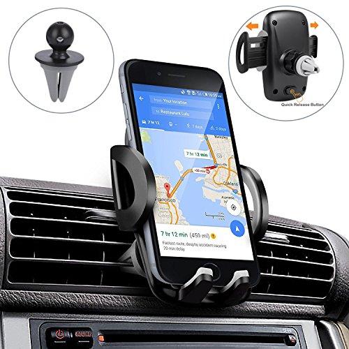 Handyhalterung Auto, iVoler Universal Handy KFZ Halterung Autohalterung Lüftung mit 360 Grad Drehung Car Mount für iPhone X / 8 / 8 Plus / 7 / 7 Plus / 6(s) / 6(s) Plus / SE / 5s / 5, Samsung Galaxy S8 / S8+ / S7 / S7 Edge / S6 / S5, Huawei, LG, Nexus, HTC, Motorola, Nokia, Sony und jedes andere Smartphone oder GPS-Gerät (52-95 mm breit)