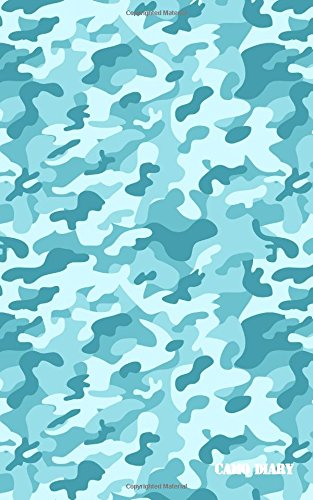 Camo Diary: Arctic Blue Camouflage, 180 Pages Arctic Camouflage