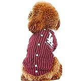 Pet harem- Hundebekleidung Herbst-Baseball-Kleidungs-Strickjacke kleiner Hundewelpe zwei Fuß-Kleidung (größe : M)