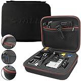 mtb more energy® Schutztasche XL für Rollei Action Cams AC 300, 400, 410, 420 / Bullet 5S, 6S, 7S Wifi - Schwarz - Koffer Case Stecksystem Modular