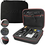 mtb more energy® Estuche (XL, Negro) para Rollei Actioncam 300, 400, 410, 420 / Bullet 5S, 6S, 7S Wifi - Bolsa Funda Sistema modular
