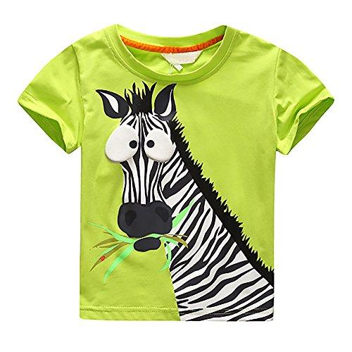 Diath Kinderbekleidung Overalls FüR Baby, Cartoon Brief Drucken Zebra Print Short Sleeve Tops T Shirt Tees ()