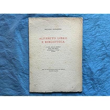 Alfabeto Libro E Biblioteca. Giovannini 1941