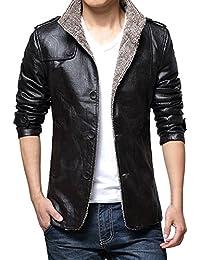 Zicac – Manteau Veste Homme Manche longues cuir synthétique