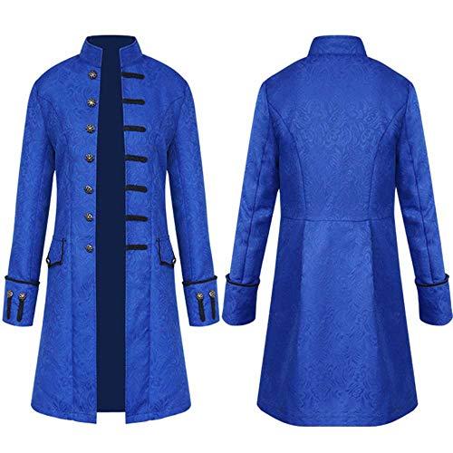 Zolimx cappotto lungo degli uomini, cappotto lungo da uomo steampunk gothic vintage giacca uomo inverno caldo vintage frac giacca cappotto outwear bottoni cappotto