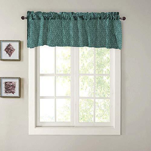 Gaddrt® 1panel valance curtains extra largo e corto trattamento finestra cucina soggiorno bagno green