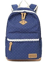 Mochila Escolar para Niñas, mochila para computadora portátil, mochila informal, bolso de lona