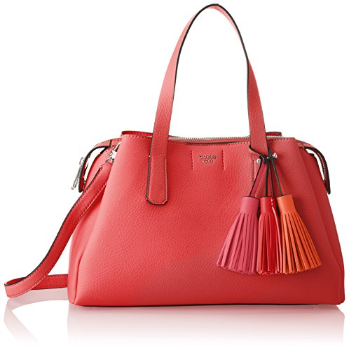 Guess Damen Bags Hobo Schultertasche, Rot (Poppy), 14.5x24x36.5 centimeters