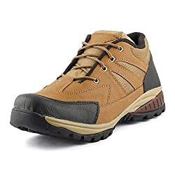 Golden Sparrow MenS Brown Fabric Synthetic Casual Shoe (Tm-H23-07)- 7 Uk