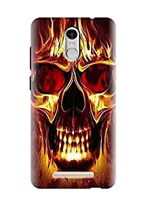 Renowned Redmi note 3 / xiaomi redmi note 3 printed case cover printed back cover - Animated Skull