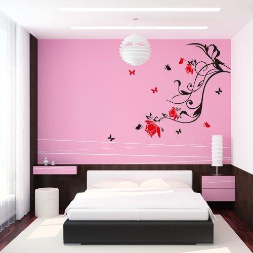 adhesive-vinyl-wall-sticker-decorative-flower-butterfly-lyrics-diy-kids-removable-vinyl-art-wall-quo