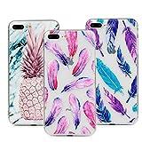 3 x LaVibe Coque pour iPhone 7 Plus iphone 8 Plus, Étui Gel Silicone TPU Transparant...