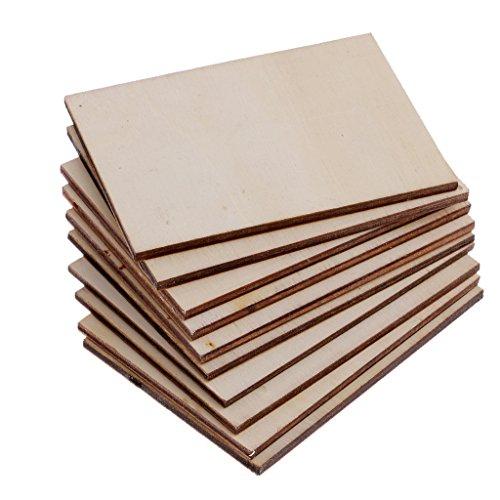 B baosity 20pcs compensato fogli per l'artigianato, pirografia, fai da te targa legno segni di arredamento per la casa