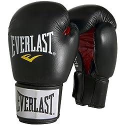 Everlast 6000PUBK14OZ - Guantes de boxeo, color negro, talla 14oz