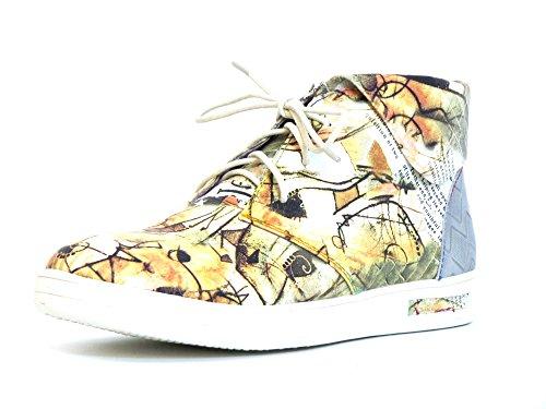 Laura Vita Femmes Chaussures à lacets beige, (beige-kombi) BUENO 02 beige-kombi