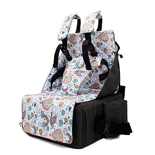 (SHINING KIDS Mamabeutel Portable Baby Esszimmerstuhl Tasche Klapp Lagerung Baby Out Rucksack Multifunktions Windel Tasche,Black)