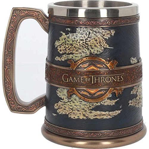 Game Of Thrones Kaffeetasse Tankard Seven Kingdoms Westeros Map offiziell Hand