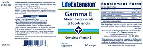 Life Extension Gamma E Mixed Tocopherols & Tocotrienols (60 Softgels)