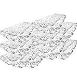 10er Pack Einweg Wischmop aus 100% Baumwolle Wischmopp 40 cm - Baumwollmopp - Wischbezug zur Echtholz trocken und nass Bodenpflege - Ideal für geöltes Parkett Dielen Laminat & Fliesen und Werkstätte mit Metallspähnen (Baumwolle, 40 cm) (10x40cm)