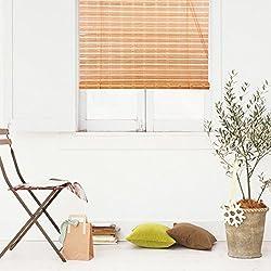 Persiana de bambú marrón claro 105 x 180 cm