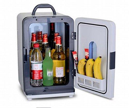 DEED Auto Kühlschrank 18L Doppel-Kältemittel Mini Gefroren Kleinen Kühlschrank Hause Mini-Kühlschrank Tragbare Benutzer Waschbecken Kühlschrank Kann Gekühlt Werden/Heizung,Weiß,18L