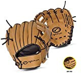 OPTIMUM Unisex-Adult Extreme Child Baseballhandschuh, Braun, One Size