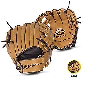OPTIMUM Unisex-Adult Extreme Child Baseballhandschuh, Braun, One Size