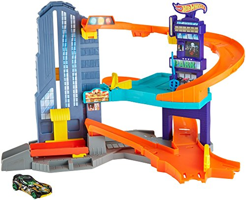 Hot Wheels City Speedtropolis Spielset mit 1 Auto