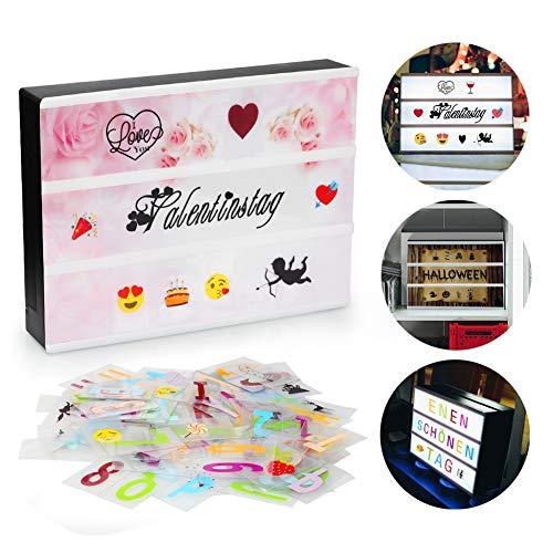 Innoolight A4 Lichtbox mit 98 Buchstaben, 28 Schwarze Symbole, 55 Bunte Emoji als Stimmungsbeleuchtung Weihnachtsbeleuchtung Lightbox Leuchtkasten für Halloween, Valentinstag, Hochzeit, Party