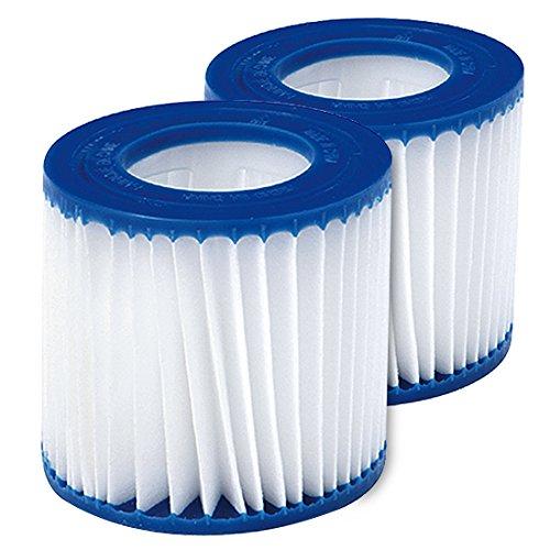 Jilong Pool Filter Catridge No. II - Filter im 2er Set für Poolpumpe, Kartuschenfilter Ø 106x136 mm, Innendurchmesser Ø 52 mm für Schwimmbecken Schwimmbad Spa Whirpool Pumpe