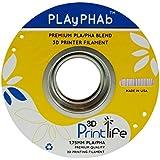 3D Printlife PLAyPHAb 1,75mm Grau PLA/PHA Mischung 3D-Drucker Filament, Maßhaltigkeit <+/- 0,05 mm, Grau - gut und günstig