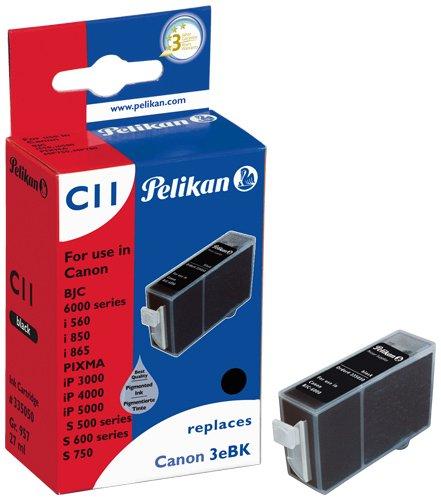 Pelikan Druckerpatrone C11 ersetzt Canon BCI-3eBK, Schwarz (pigment)