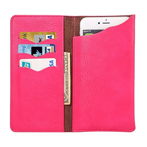"""DFV mobile - Vertical Cover Premium PU Leather Case with Wallet & Card Slots for =>      APPLE IPHONE 6 PLUS [5,5""""] > BLUE Pink"""