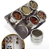 Botes de especias cocina acero inoxidable + magnético accesorio de Creative utensilios de cocina 6pcs nleader