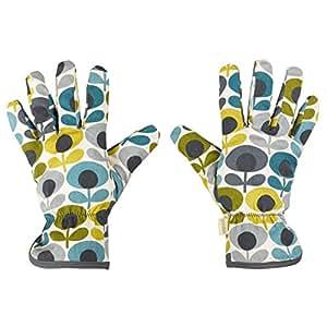 Orla Kiely ok052Multi Flower Oval Print Eintopfen Handschuhe–blau/grün