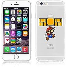 Carcasa flexible de poliuretano termoplástico transparente con dibujos de Disney para iPhone 6/6S y 6 plus/6plus S, plástico, MARIO .2, APPLE IPHONE 6/6S