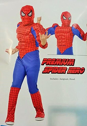 Carnevale Spiderman Kostüm - KOSTUM SPIDERMAN AGE MEDIUM 8/10 JAHRE