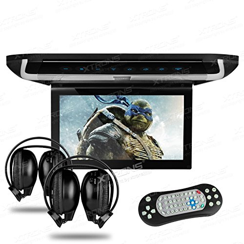 Xtrons ® 10`` HD Digital TFT Monitor Car Roof Flip Down Overhead DVD Player Touch Panel Game Disc with HDMI Port IR Headphones