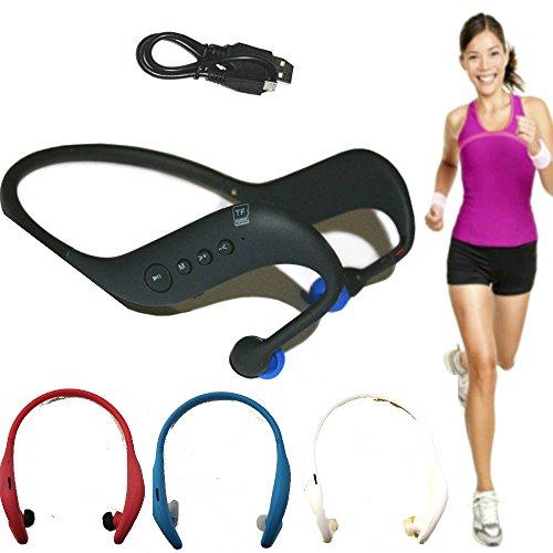 Cuffie sport auricolari dietro testa con lettore mp3 incorporato per micro sd + radio fm - colore spedito secondo disponibilità