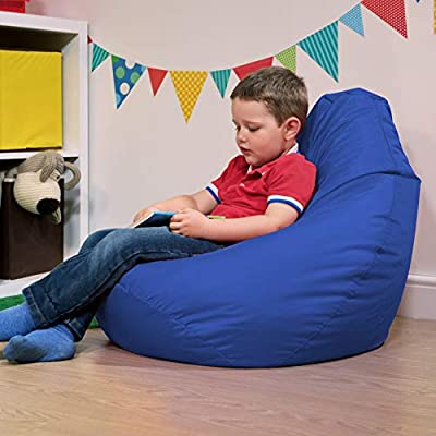 Bean Bag Bazaar Kids Gaming Chair - Large, 80cm x 70cm - Childrens Indoor Outdoor BeanBag (Blue, 2)
