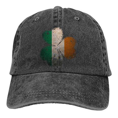 j65rwjtrhtr Men & Women Adjustable Denim Jeans Baseball Cap Vintage Irish Shamrock Trucker Cap