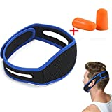 Snore Stopper, Stop Snoring, Anti Snoring Chin Jaw Strap, ceinture de menton anti-ronflement ultra confort, Une paire Noise Lite Foam Bouchons d'oreille pour dormir Solution Ronflement Anti for Good Matin
